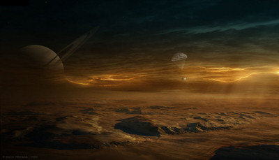 Huygens at Titan by Emile Raphael Franco for Planetary Society Art Competition