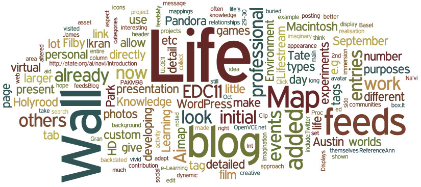 Wordle on Austin Tate's MSc in e-Learning 28-Sep-2011